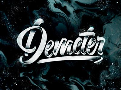 Demeter concept brushlettering print handlettering brush art type design typography lettering