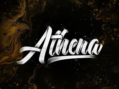 Athena brushpen concept brushlettering handlettering brush art type design typography lettering