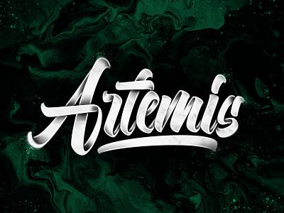 Artemis concept brushpen brushlettering handlettering brush art type design typography lettering