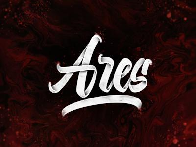 Ares brushpen concept brushlettering handlettering brush art type design typography lettering
