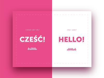Hello cześć hello first shot fresh start