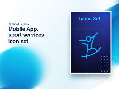 IconsFolio   Multisport sport set outline mockup linear line iteotem iteo icons icon gym