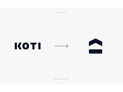 Koti logo sign vector minimalistic home logo