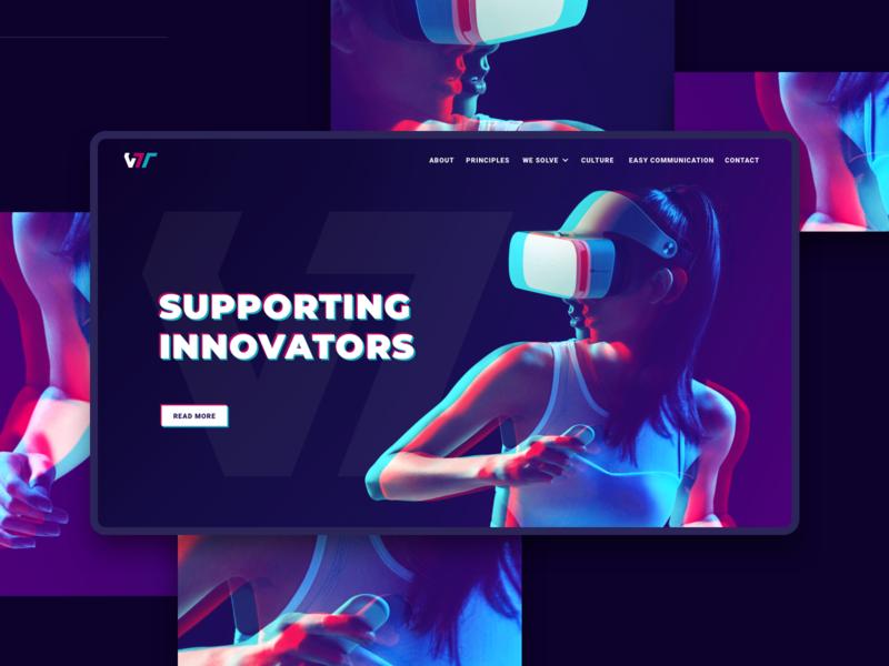 VTT Web Design interaction motion app geometric ui web design branding illustration logo design minimalistic iteo