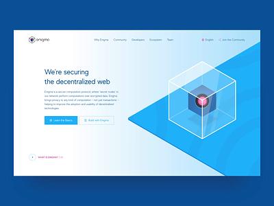 Enigma Website on Awwwards page scroll motion clean website decentralised design web zajno