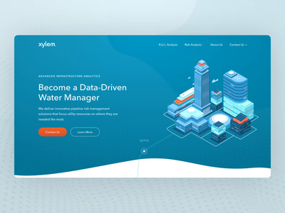 Infrastructure Analytics Company Website clean website product design web