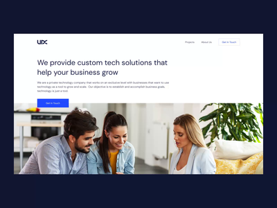 Website Redesign for a Software Development Company smooth transitions animation software business minimal slick clean landing page web design website