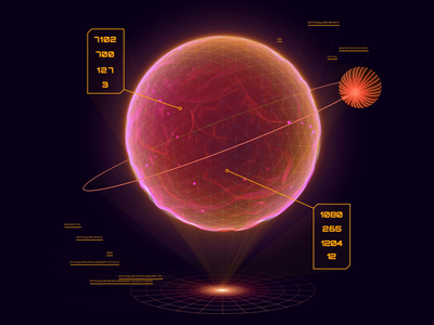 Animated Visual for Telecom Website Product Page motion design star planet satellite add-on product iridescent art hypnotic abstract animated visual animation visual orb space cosmic cosmos futuristic zajno