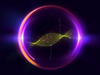 Animated Visual for Telecom Website Product Page spiral dna motion design star planet add-on product iridescent art hypnotic futuristic abstract animated visual animation visual orb space cosmic cosmos zajno
