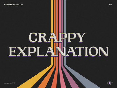 """Website for """"Crappy Explanation"""" Music Project records 80s aesthetic vinyl slick smooth clean animation website web design zajno"""