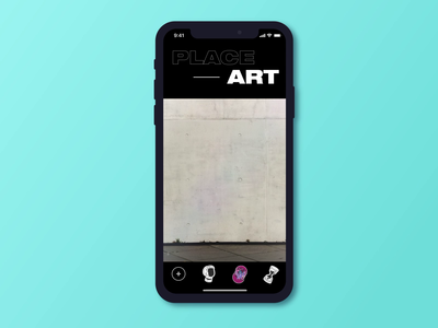 AR Mobile App Design for Art Projections ux ui augmented reality ar modern experiment creative motion app design unusual layout animated mobile app animation dark black  white bold contrast colors business paint graffiti zajno street art