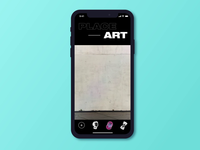 AR Mobile App Design for Art Projections