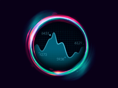 Animated Visual for Telecom Website Product Page dashboard zajno web development ui ux spiral sphere space data visualization orb statistics motion design interactive hypnotic animated visual futuristic dark css animation code art animation