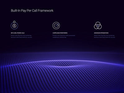 Animated Visual for Telecom Website Product Page c4d cinema 4d electric fluent smooth features sound wave zajno web development ui ux data visualization motion design interactive hypnotic animated visual futuristic dark css animation art animation