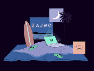 Good Habits to Improve Teamwork day and night neon surf board beach vacation holiday chill teamwork advice geometric flat design video 2d animation letter futuristic illustration metaphor abstract symbol article medium zajno