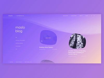 Maslo AI Goes on Awwwards! animation abstract promo website web design pastel colors blue purple artificial intelligence friend companion vibrant maslo ai futuristic revolutionary technology ux ui zajno ai