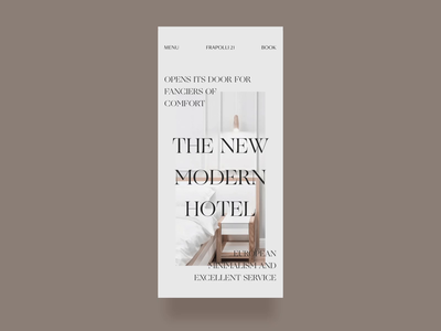 Hotel Mobile Website Design Experiment mobile responsive smooth transition hover effect animation layout minimal interface hotel business simple promo website vector flat clean branding product typography fashion ui ux design mobile zajno