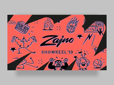 Showreel 2019 glitch reel animation motion design web showreel zajno