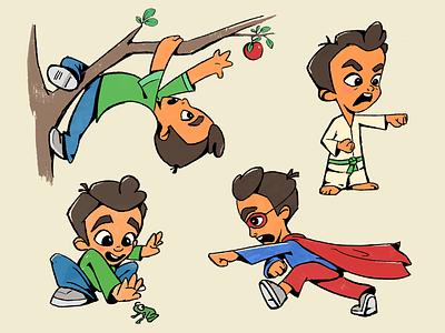 Childhood boy childhood kid child illustration design character zajno