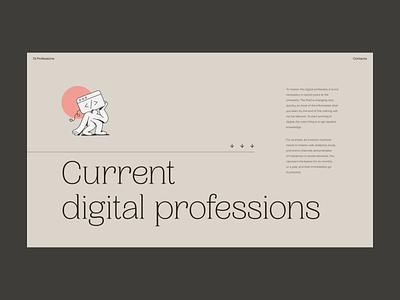 Digital Creative Jobs Educational Platform animation motion illustration design web zajno