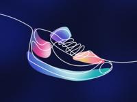 One line sneaker