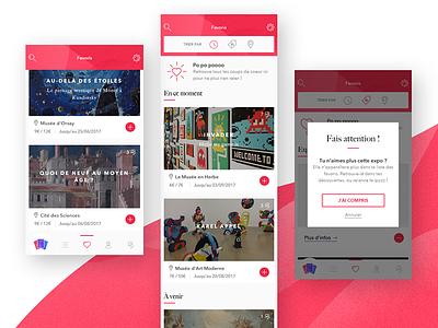 Start ux ui museum mobile interaction graphism gobelins design card art app