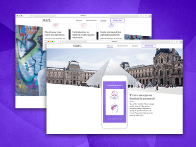 Start website ux ui museum mobile interaction graphism gobelins design card art app