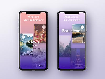 Travel app project app destination travel design x iphone mobile gradient ux ui