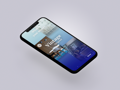 Travel app project x ux ui travel mobile iphone gradient destination design app