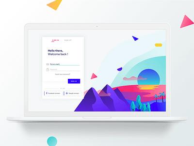 RISE branding ux service design landscape login form interactive illustration ui app gobelins design