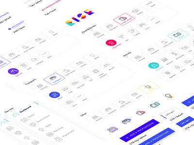 Rise gobelins identiy pictogram picto ui kit ux interactive ui app design