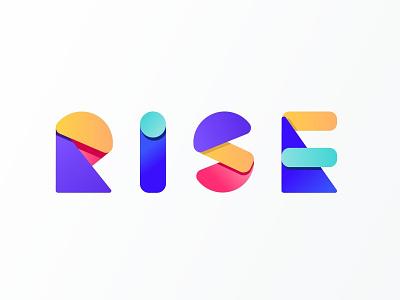 Rise Logotype branding puzzle modular geometric rise gobelins logodesign typography font logotype logo