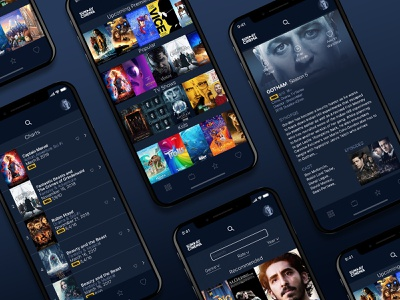 Sunday Cinema Movie App UI ui wireframe tvshows tv dark dark app cinema film apple design mobile mobile app netflix movie app movie app ux  ui ux design uidesign 2d