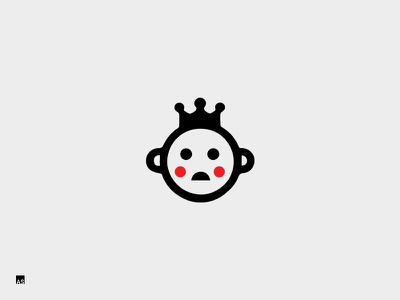 Shy King   Logo illustration minimal king shy identity mark logo