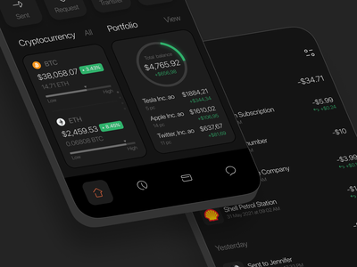Concept Banking App design app minimal ui ux concept bank app money fintech finance