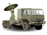 Vector Army Sat Truck