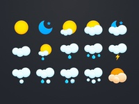 Lovely weather icon set