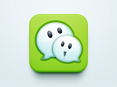 Wechat 5.0 Redesign 牛mo王 ui icon app ios clean green wechat tlak lively bubble message