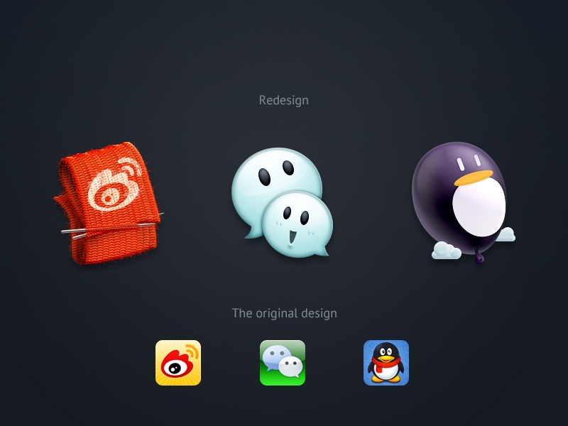 SNS icon redsign 牛mo王 ui icon redsign sina weibo weixin wechat qq tencent sweater