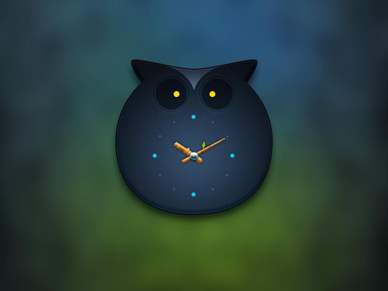 Owl Clock 牛mo王 ui widget owl clock branch