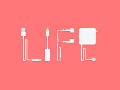Our Life hanwang flat apple mac lines life