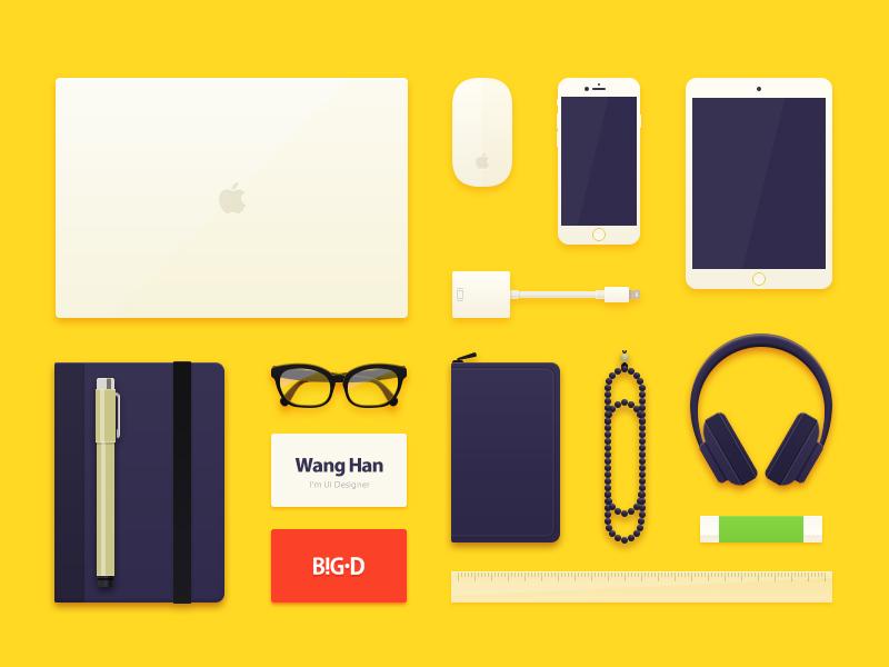Designer Gadgets gadgets macbook iphone ipad sketchbook pen card mouse vga bose