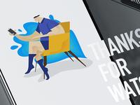 Work Illustration jobs work man illustration