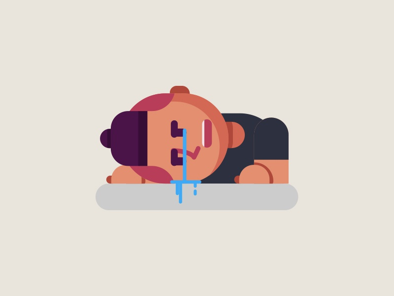 Lost all my files work man crying illustration