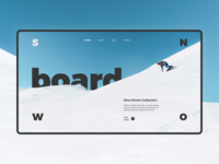 Snowboard Shop Homepage