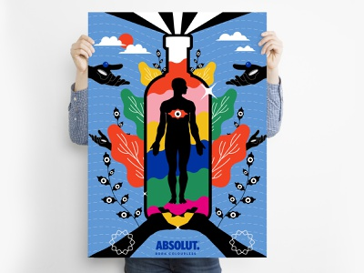 Born Colourless | Absolut India unity symbol colourless absolut surreal art everydays graphic design abstract surrealism illustration