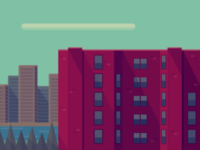 Rooftops  vintage retro inkscape vector flat art city scape city