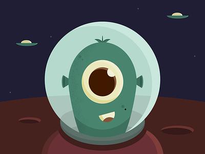 Invasion Day design ipadart affinity designer alien wallpaper illustration color flatart vector
