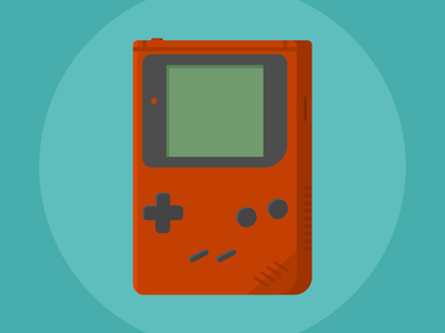 Play It Loud gameboy videogame affinity designer design illustration flatart color vector