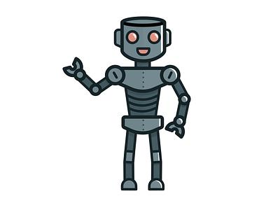 FIL robot weekly warm-up illustration vector